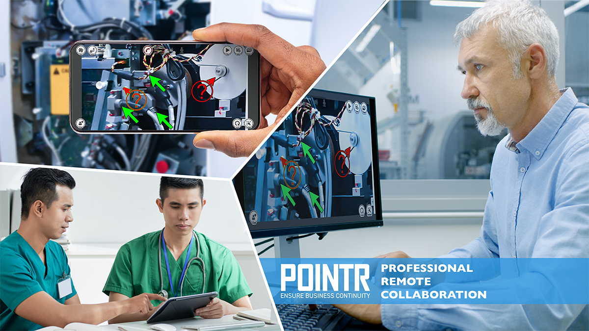 POINTR for hospitals for maintenance of medical equipment!