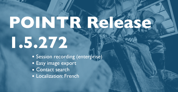 POINTR release 1.5.272: New Features!